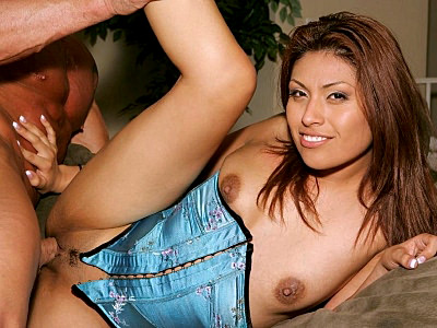 Hot Latina milf Lena Juliette is just the best person to hook up with. Shes wearing her favorite blue corset while she spreads wide to have her shaved twat licked. She sucks on her lovers dick afterwards and then continues by riding his huge cock in the living room.